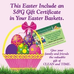 Sg gift certificates make great easter gifts sgcleaningservices blog negle Images