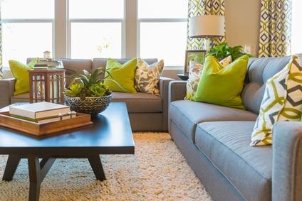 tidy modern living room